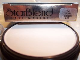 Mehron Star Blend Cake Pancake Water Base Stage Makeup Light Shades Professional image 2