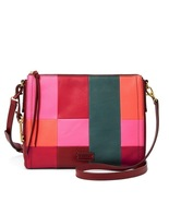 Fossil Emma EW Bright Patchwork Leather Zipper Closure Crossbody  - $345.18 CAD