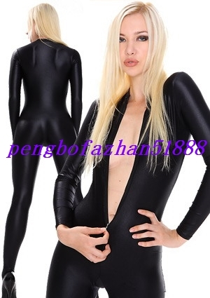 LYCRA SPANDEX SEXY BLACK BODY SUIT CATSUIT COSTUMES HALLOWEEN COSPLAY SUIT S203