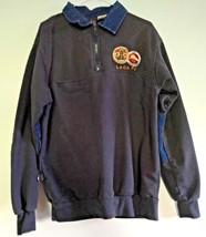 Mens Los Angeles Fire Dept LACo FD Pullover 1/4 Zip Jacket Denim Small C... - $34.65
