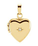 Diamond Heart Shaped Locket In 14K Yellow Gold - $138.59