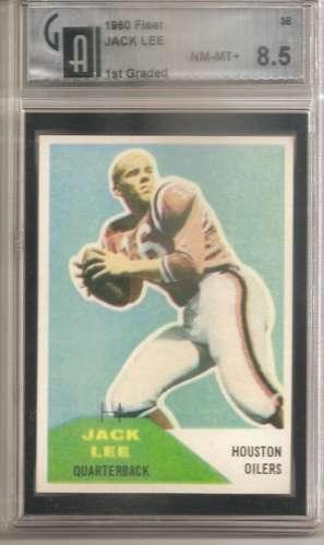 1960 Fleer #38 Jack Lee RC Rookie GAI 8.5