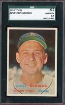 1957 TOPPS #258 STEVE GROMEK SGC 8.5 TIGERS *DS4241 - $79.00