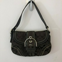 AUTHENTIC COACH SOHO Purse NO.E060-10296 Brown Leather and Canvas - $60.11