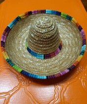 Straw Sombrero Hat Mexican Mariachi Halloween Pet Dog Cat Costume Accessory - $4.99
