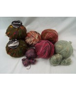 Lot of 9 Full skeins + 5 Partial Skeins Wool Blend Yarn Variety Colors B... - $20.26
