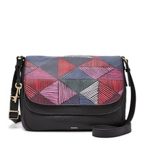 Fossil Peyton Pink Multi Leather/Cotton Large Double Flap MagneticSnap C... - $389.99