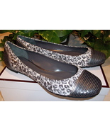 Coach Shine Sequin Ballet Flats Ocelot Shoes 7 New - $29.00