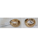 Coach Beaded Link Interlocking Ring Set Gold NW... - $29.00