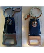 Coach Mens Leather Bottle Opener Keychain Key F... - $39.00