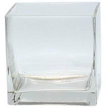 "1 vase in 4"" Square Clear Vase  (FREE SHIPPING) - $166,86 MXN"
