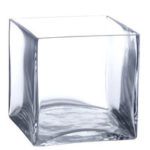 """4"""" Square Clear Vase 4 Pack - 4 pieces  Glass Cube Vases  (FREE SHIPPING) - $400,28 MXN"""