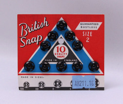 10 Count British Snaps - Black Size 2 Quality Snaps Garment Fasteners M2... - $2.00
