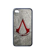NEW iPhone 4 Hard Black Case Cover Assassin's Creed Emblem  Gift 32096474 - $17.99