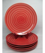 """Spiral Swirl hand painted dinner plates 10 3/4"""" Bundle of 5 - $38.22"""