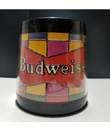 Budweiser Thermo Serv Mug Stained Glass Design - $12.19