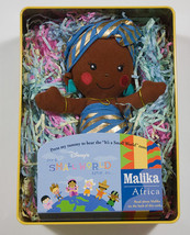 """Disney It's A Small World After All Malika Africa Doll Collector Tin Ragdoll 8"""" - $16.82"""