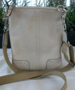 Coach Pebbled Soft Milled Cowhide Leather Cross... - $19.00
