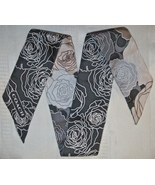 Coach  Pony Ponytail Scarf Roses Charcoal Gray ... - $19.00