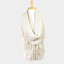 Long fringe knit infinity scarf  - $33.03 CAD