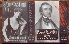 Edgar Allan Poe A to Z and Edith Wharton A to Z - $4.00