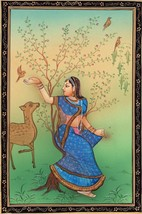 Rajasthan Miniature Ragini Ragamala Art Indian Handmade Folk Ethnic Pain... - $79.98