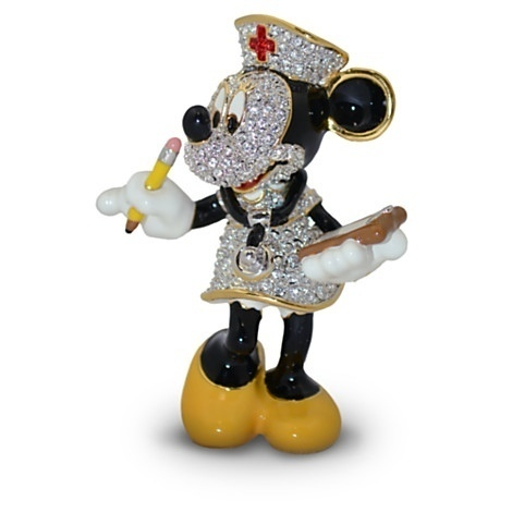 DISNEY PARKS NURSE MINNIE FIGURINE BY ARRIBAS-SWAROVSKI CRYSTAL/LIMITED EDIDTION