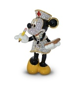 DISNEY PARKS NURSE MINNIE FIGURINE BY ARRIBAS-SWAROVSKI CRYSTAL/LIMITED EDIDTION - $318.70