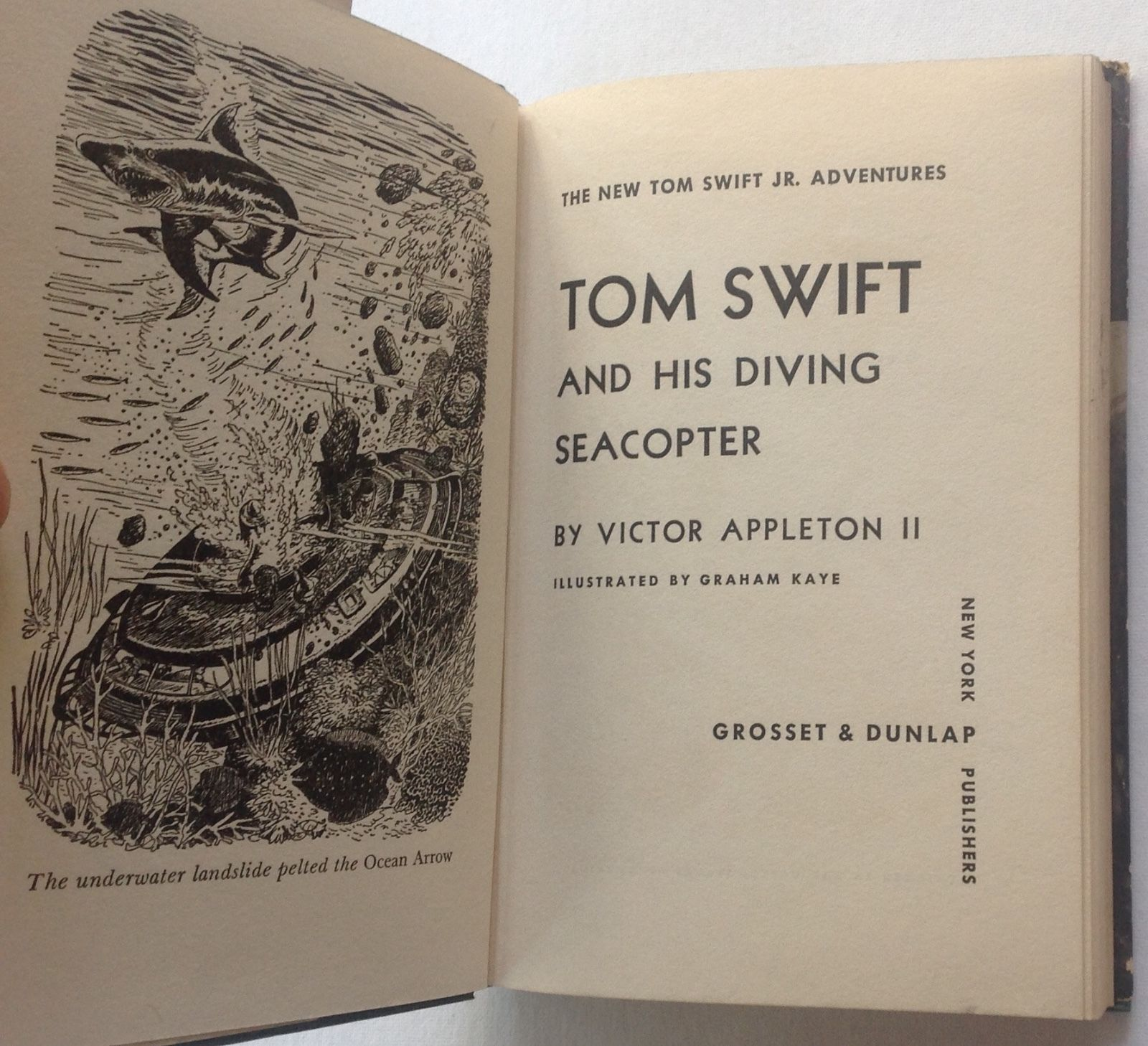 Tom Swift and the Diving Seacopter Victor Appleton 1956 HCDJ
