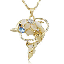 Dolphins Exquisite Crystal Chic Long Chain Necklaces & Pendants Necklace... - $7.96