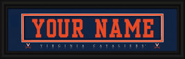 """Virginia """"Cavaliers"""" Personalized Stitched Jersey Nameplate Framed Print - $39.95"""
