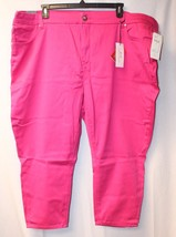 NEW MELISSA MCCARTHY SEVEN7 WOMENS PLUS SIZE 28W 28 BRITE PINK PENCIL CA... - $27.08