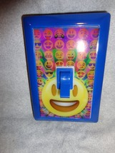 EMOJI SUPER BRIGHT NIGHT LIGHT STICK ON WIRELESS BLUE SMILE - $7.87