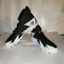 ADIDAS Freak Mid MD Football Cleats Men's 12.5 Black Silver White BY3874 NWOB - $43.50
