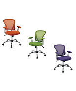 Mesh Fabric Screen Back School Dorm Teen Kids Swivel Office Desk Chair J... - €110,48 EUR