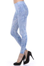 M-Rena Brocade Print Seamless Rayon Leggings. One Size image 3