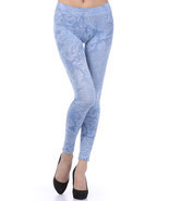 M-Rena Brocade Print Seamless Rayon Leggings. One Size - £31.31 GBP