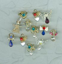 12 Sweet Little Angel Pins Rhinestone Christmas Birthday Special Occasions - $14.40