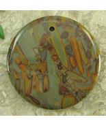Chocolate Brown JASPER 45mm Coin Disc Pendant Bead Gemstone - $2.98