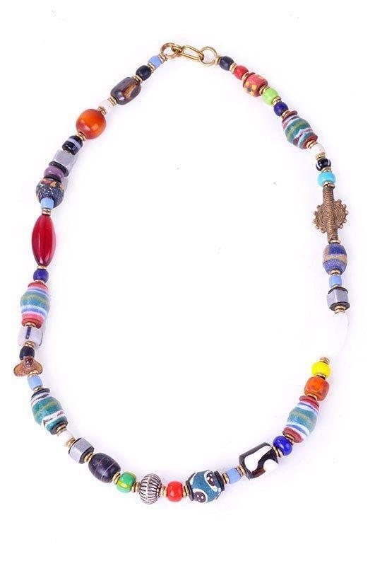 handcrafted handmade trade bead necklace kenya