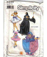 Simplicity 9800 Pattern toddler girl  2 4 Bo Peep Sailor Clown Witch cos... - $9.77
