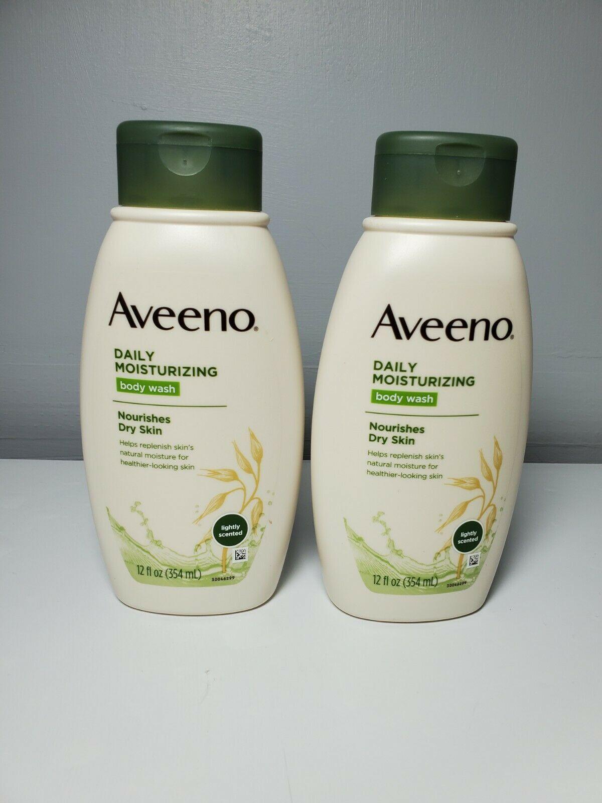 Set of 2 - Aveeno Daily Moisturizing Body Wash - 12 oz each - NEW - $24.75