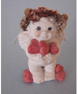 Dreamsicles Angel Cherub Mini With Hearts  3 Inches Tall  Kristin 1995 C... - $7.99