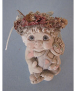 Dreamsicles Angel Cherub Mini Seated With Rag Doll 3 Inches Tall  Kristi... - $7.99