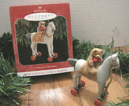 A PONY FOR CHRISTMAS 1998 Hallmark Keepsake Ornament #1 in Series Wheels... - $12.55