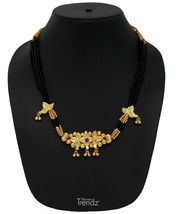 Womens Trendz Chandramukhi Jondhali Pot 24K Gold Plated Alloy Necklace  - $34.00