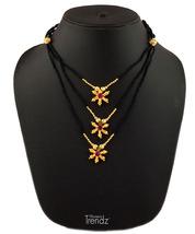 Womens Trendz Chandramukhi Jondhali Pot 24K Gold Plated Alloy Necklace  - $33.00