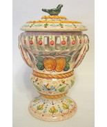 Spanish Ornate Lidden Urn Curio AS IS Ceramica de Autor 46270 WITHOUT LID - $57.91
