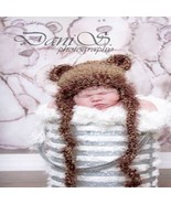 NEWBORN BABY BOY OR GIRL BROWN TEDDY BEAR HAT P... - $12.00