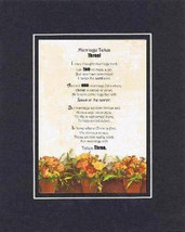 Heartfelt Plaque for Love & Marriage - Marriage Takes Three Poem . . .   on 11x1 - $15.95